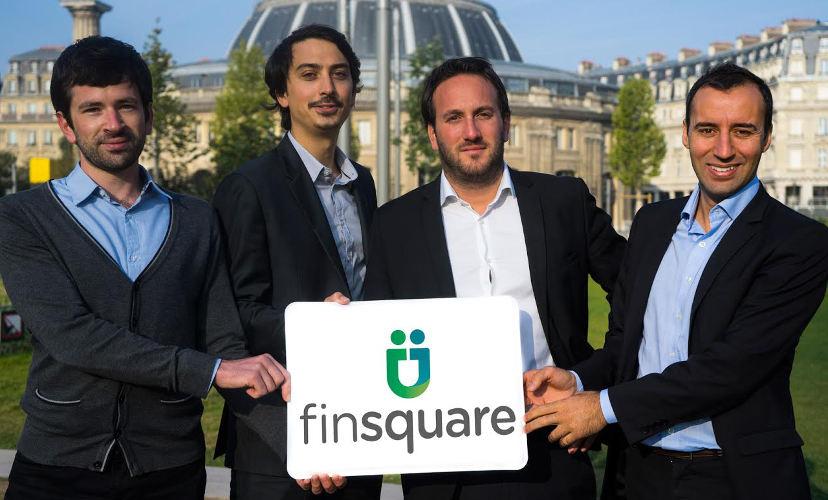 L'équipe Finsquare (de gauche à droite) : François du Cray, Adrien Wiart, Polexandre Joly et Hafid Kekouche.