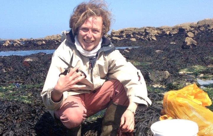 Julien Racault ceuille, prépare et vend des algues sur les marchés bretons.