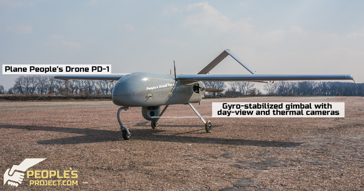 Drone militaire de reconnaissance et d'ajustement de tir