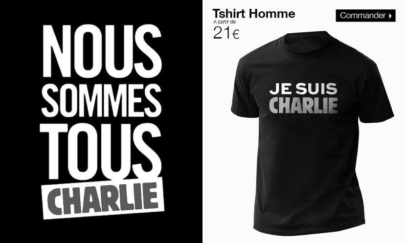 Tee-shirt Je suis Charlie